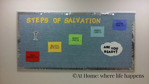 Steps of Salvation bulletin board