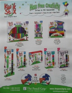 various Kwik Stix available