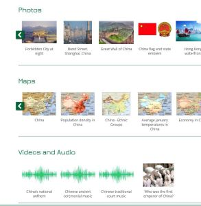 video audio maps images of China