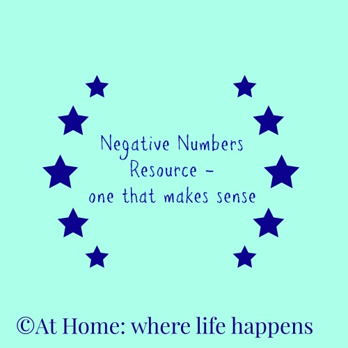 Negative Numbers resource