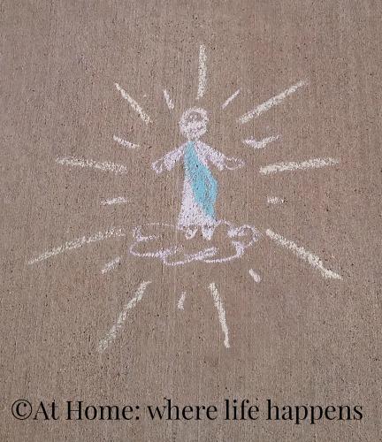 Driveway Art Christ