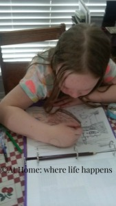 coloring a page