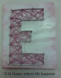 string art E