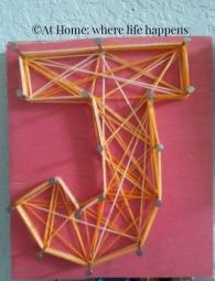 string art J