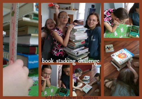 book stacking challenge