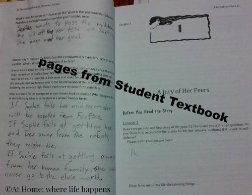 student textbook