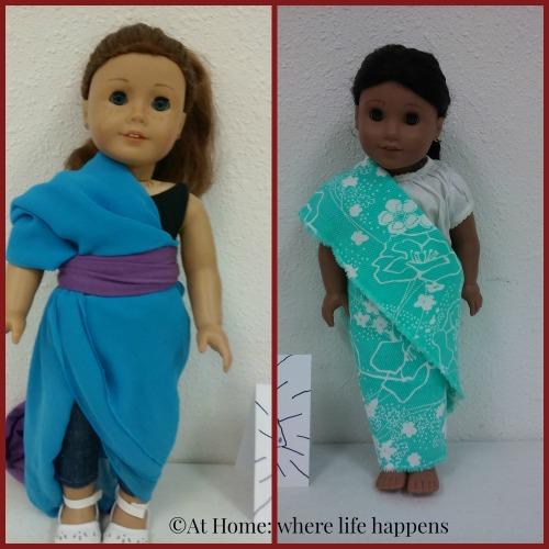 dolls in saris