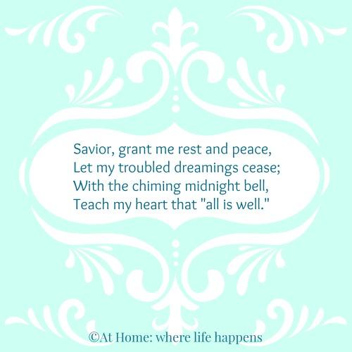 Savior Grant Me Rest and Peace