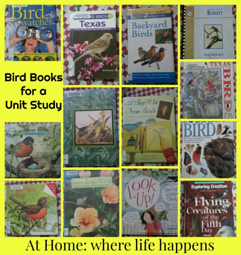 bird books for unit study