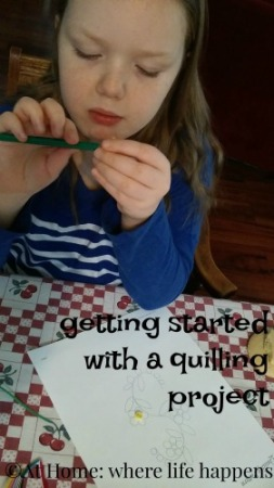 quilling project start
