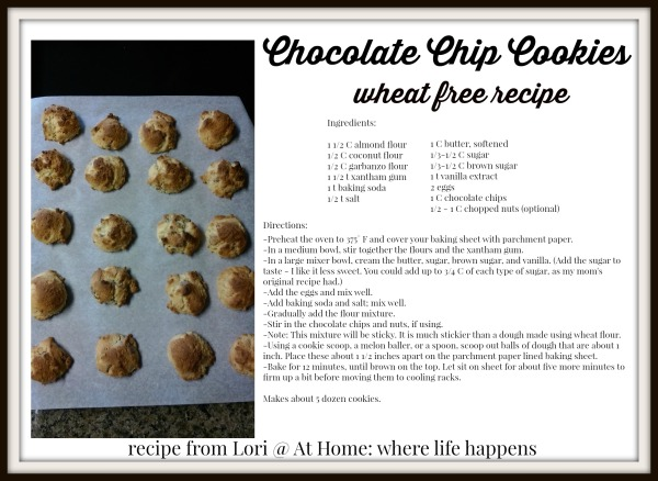 Wheat free chocolate chip cookies