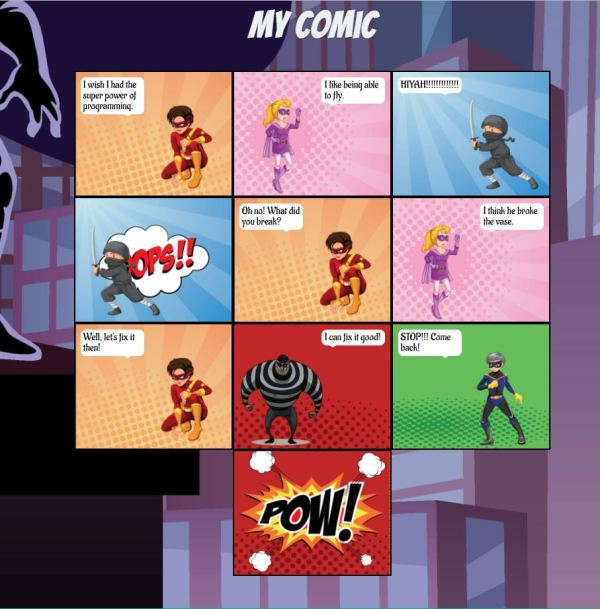 Comic screenshot