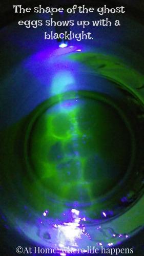 ghost eggs glowing