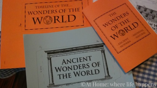 timeline and ancient wonders