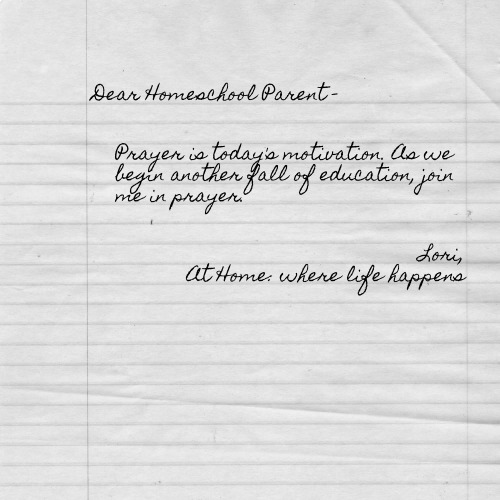 Dear Homeschool Parent