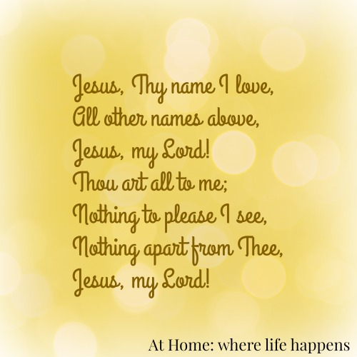 Jesus Thy Name I Love