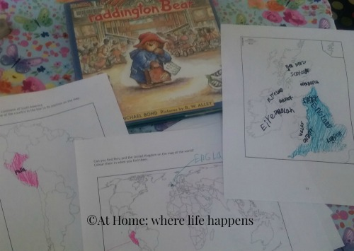 maps and Paddington Bear