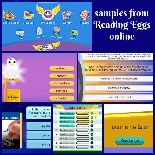Reading Eggs online