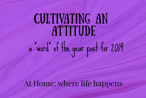 cultivating an attitude
