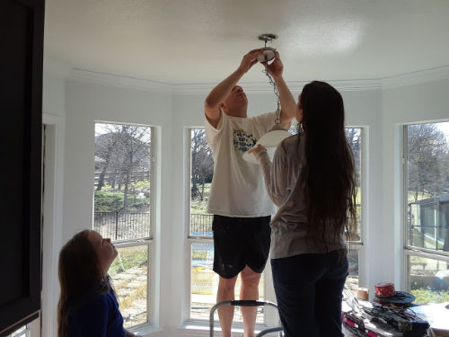 light fixture work