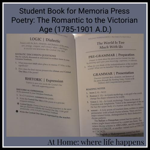 Student Book for Memoria Press Poetry Set