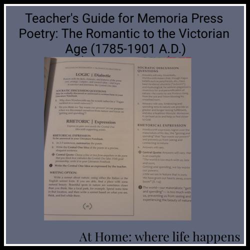 Teachers Guide for Memoria Press Poetry Set