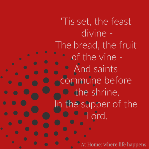 Tis Set The Feast Divine hymn