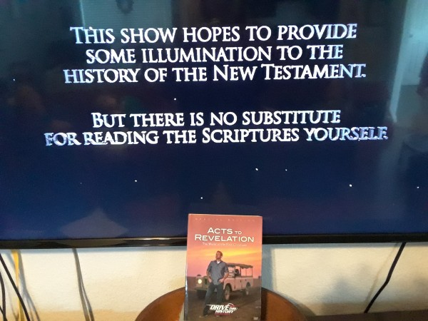 TV showing read the scriptures