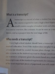 Transcripts Made Easy and easy to read