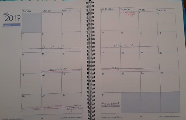 July planning