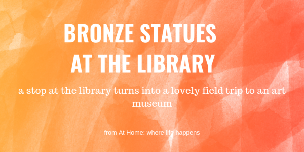 Bronze Statues at the library