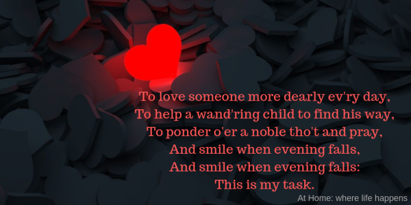 To love someone more dearly ev'ry day