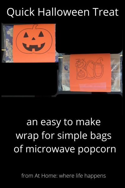 an easy to make wrap for simple bags of microwave popcorn