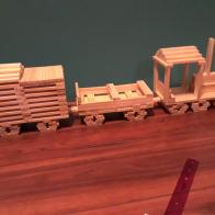 train made from Brain Blox planks