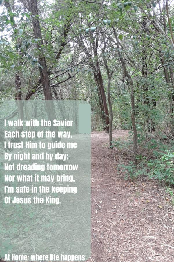 I walk with the Savior