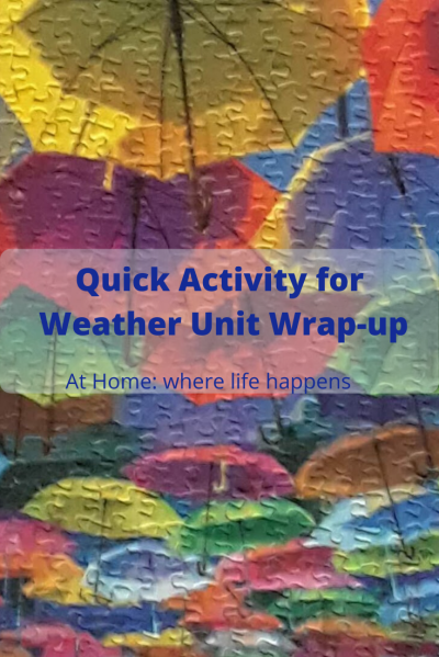 Quick Activity for Weather Unit