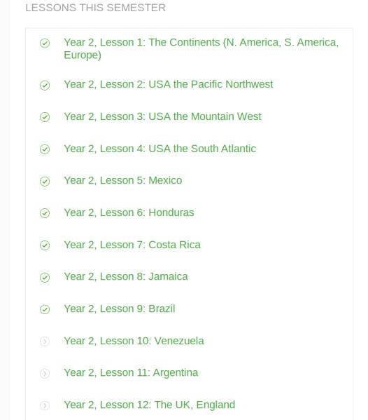 lesson list