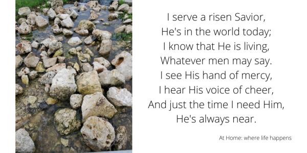 I serve a risen savior