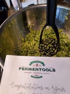Sauerkraut getting ready with Fermentools