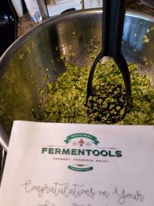 Sauerkraut getting ready with Fermentools