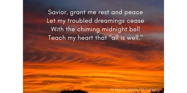 Savior, grant me rest and peace