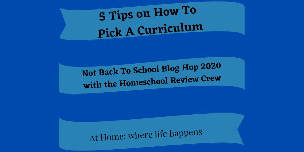 How to pick a curriculum