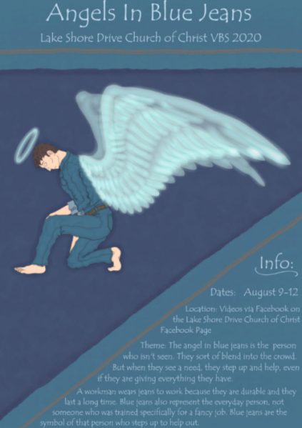 Angels in Blue Jeans Vacation Bible School flyer